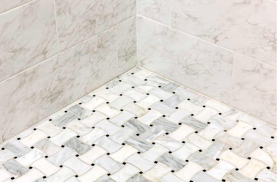 Make A Statement in Bathroom with Tile Floor | HomeInAwe