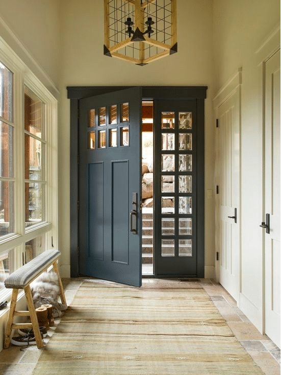Midnight Blue Grey Front Door