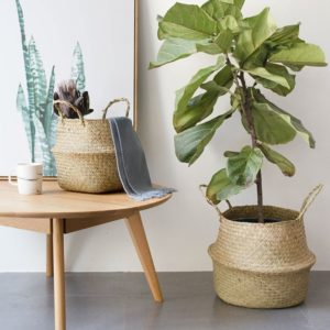 Foldable Seagrass Woven Basket