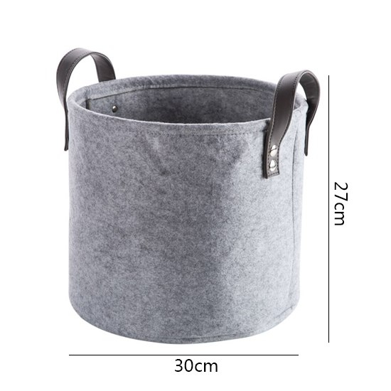 Grey Felt Storage Basket