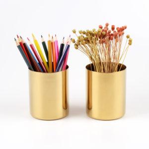 Classic Metal Pencil Cup