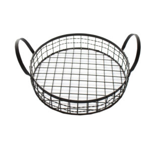 Country Iron Round Basket